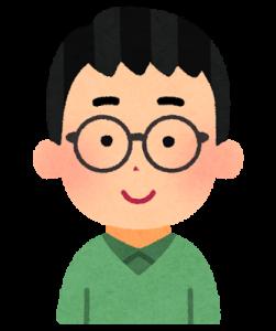 眼鏡の男性